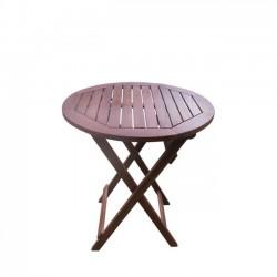 Τραπέζι φ70cm πτυσσόμενο acacia c10252