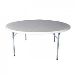 Τραπέζι συνεδρίου φ181cm πτυσσόμενο λευκό c10591
