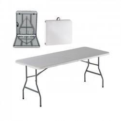 Τραπέζι συνεδρίου 180x74cm πτυσσόμενο λευκό βαλίτσα c10594