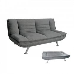 Καναπές κρεβάτι ύφασμα γκρι 183x88x85cm c11131