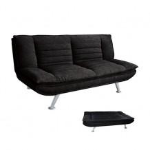 Καναπές κρεβάτι ύφασμα μαύρο 183x88x85cm c11132
