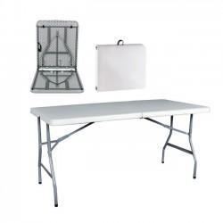Τραπέζι συνεδρίου 152x70cm πτυσσόμενο λευκό βαλίτσα c11329
