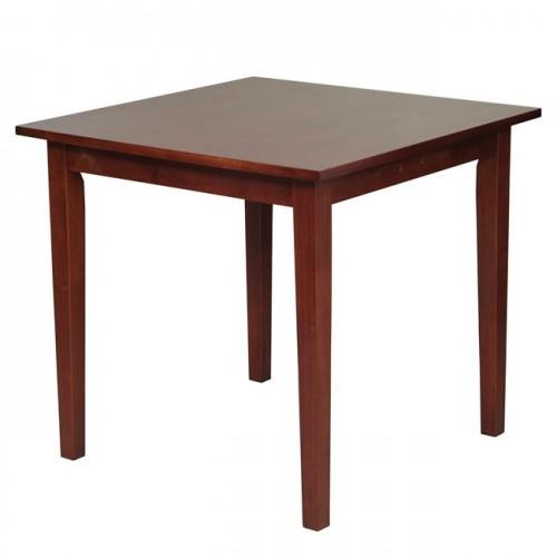 Τραπέζι 80x80cm mdf καρυδί c11476