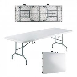 Τραπέζι συνεδρίου 240x85cm πτυσσόμενο λευκό βαλίτσα c36406