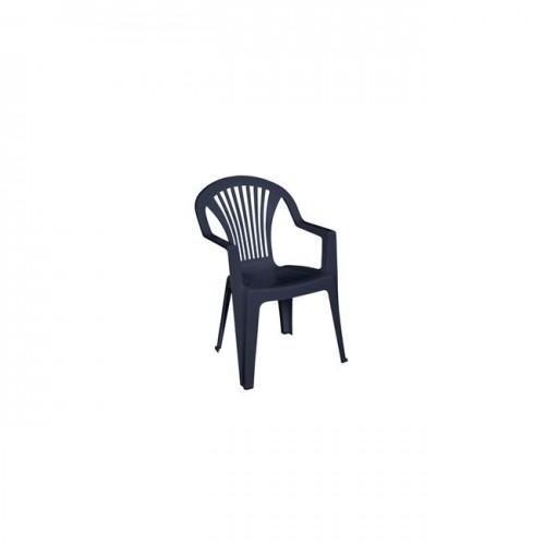 LIDO πολυθρόνα στοιβαζόμενη πλαστική ανθρακί c54910