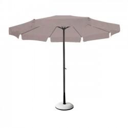 Ομπρέλα φ200cm αλουμινίου ανθρακί ύφασμα μπεζ c9069