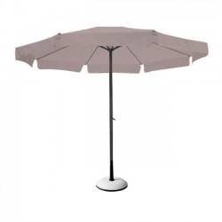 Ομπρέλα φ300cm αλουμινίου ανθρακί ύφασμα μπεζ c9070