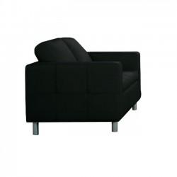 Καναπές 2 θέσεων pu μαύρο 145x85x82cm c9121