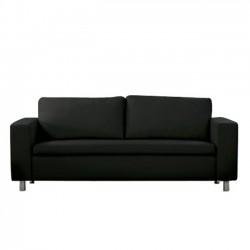Καναπές 3 θέσεων pu μαύρο 199x85x82cm c9122