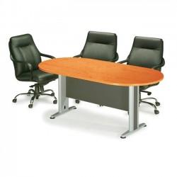 Τραπέζι συνεδρίου oval 240x120cm dg cherry c9477