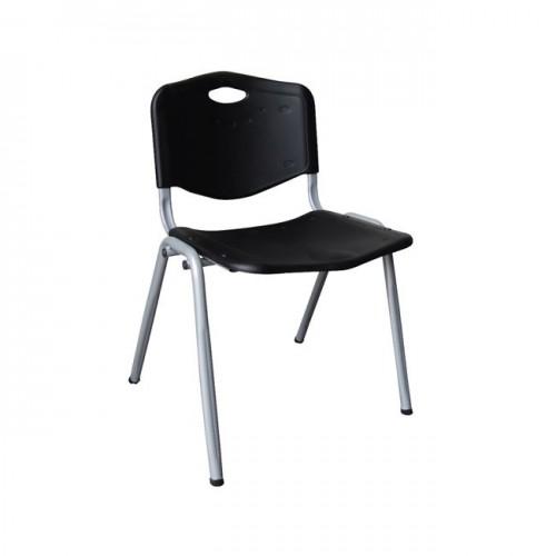 Καρέκλα μαύρη βαφή silver c9671