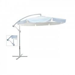 Ομπρέλα hanging αλουμινίου φ300cm λευκή ύφασμα λευκό με μεταλλική βάση c9772