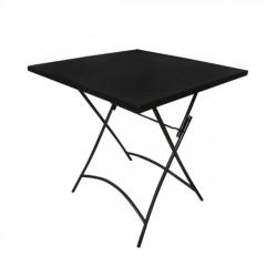 Τραπέζι πτυσσόμενο 70x70cm μεταλλικό μαύρο c9894