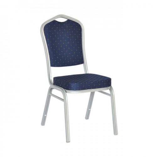 Καρέκλα μεταλλική silver ύφασμα μπλε c10261