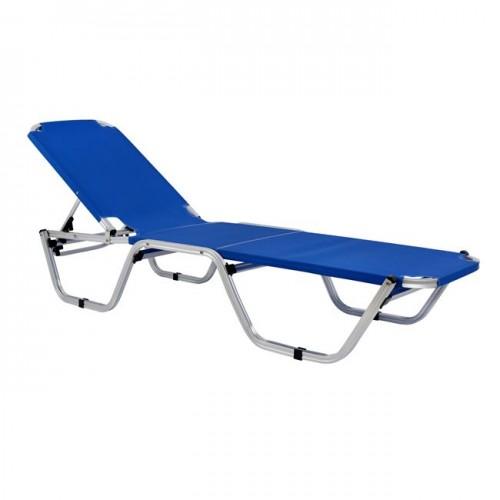 Επαγγελματική ξαπλώστρα παραλίας μπλε c13941