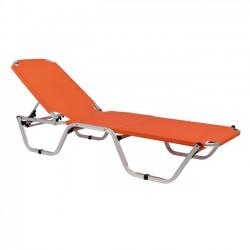 Επαγγελματική ξαπλώστρα παραλίας πορτοκαλί c13943