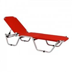 Επαγγελματική ξαπλώστρα παραλίας κόκκινη c13945