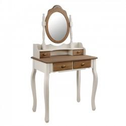Τουαλέτα με καθρέπτη ξύλινη c15182