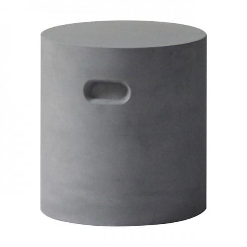 CONCRETE Cylinder Σκαμπώ D 37cm Cement Grey c152032