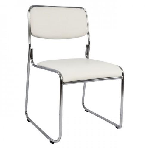 Καρέκλα επισκέπτη γραφείου χρώματος λευκού c15275