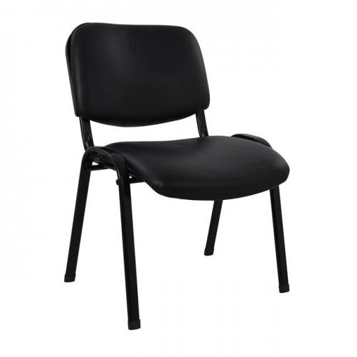 Καρέκλα επισκέπτη γραφείου μαύρου χρώματος c15277