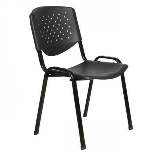 Καρέκλα επισκέπτη γραφείου μαύρου χρώματος c15289