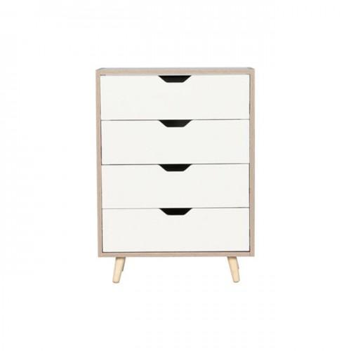 ALINA Συρταριέρα 4 Σ 56x29x77cm Sonoma Άσπρη c159977