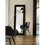 Πολυθρόνα πολυκαρβονική glossy μαύρη με ξύλο και μέταλλο 2b186ag17