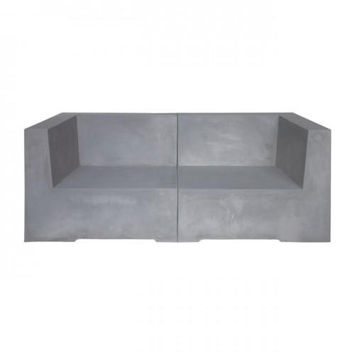 CONCRETE Καναπές 2 θ Cement Grey 160x83x65cm c169719