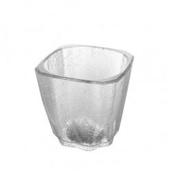 Σετ 96 πλαστικά ποτήρια χαμηλά SAN CUBE πισίνας 20cl 7 2x7 2x6 8cm διάφανα c179125