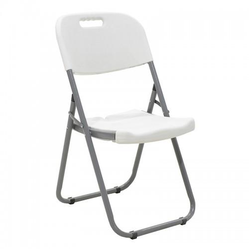 Καρέκλα catering-συνεδρίου πτυσσόμενη EDISON από ενισχυμένο μεταλλικό σκελετό χρώματος γκρι c20041