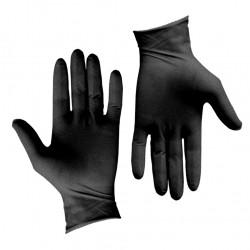 Σετ 100τεμ γάντια λάτεξ μεγάλης αντοχής χωρίς πούδρα μαύρα XLARGE c203999