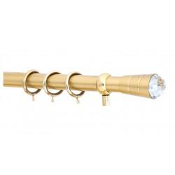 Κουρτινόξυλο 2.5m μονό χρυσό με swarovski c20895