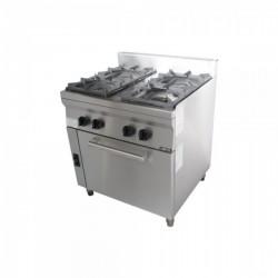Κουζίνα αερίου με 4 εστίες και φούρνο