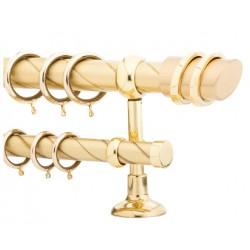 Κουρτινόξυλο 2m διπλό χρυσό c21175