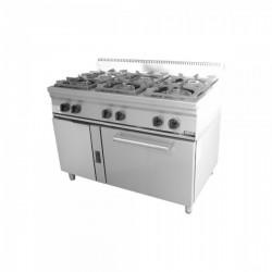 Κουζίνα αερίου με 6 εστίες και φούρνο