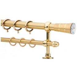 Κουρτινόξυλο 0.80-1.40m διπλό χρυσό με swarovski c21495