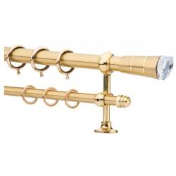 Κουρτινόξυλο 0.80-1.40m διπλό χρυσό c21513