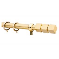 Κουρτινόξυλο 1.40-2.20m μονό χρυσό c21541