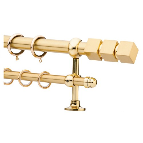 Κουρτινόξυλο 0.80-1.40m διπλό χρυσό c21543