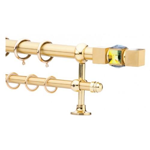 Κουρτινόξυλο 0.80-1.40m διπλό χρυσό c21561