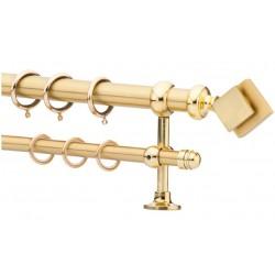 Κουρτινόξυλο 0.80-1.40m διπλό χρυσό c21602