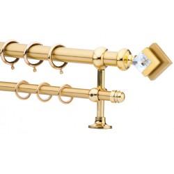 Κουρτινόξυλο 0.80-1.40m διπλό χρυσό c21614