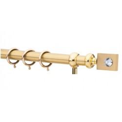 Κουρτινόξυλο 2.20-3.20m μονό χρυσό με swarovski c21673