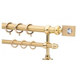 Κουρτινόξυλο 0.80-1.40m διπλό χρυσό με swarovski c21674
