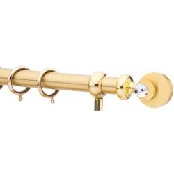 Κουρτινόξυλο 0.80-1.40m μονό χρυσό με swarovski c21803