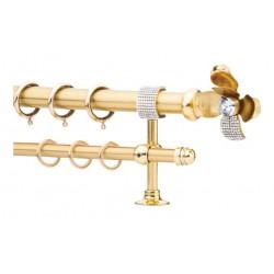 Κουρτινόξυλο 2.20-3.20m διπλό χρυσό με strass c21820