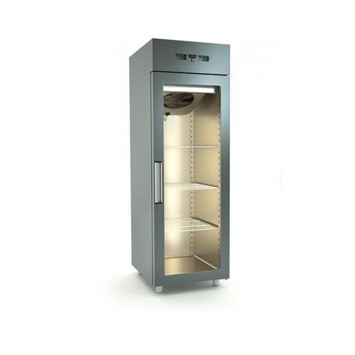 Inox μονό ψυγείο κατάψυξης με γυάλινη πόρτα id