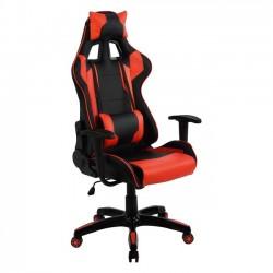 Πολυθρόνα Gaming με ανάκλιση 180 μοιρών μαύρη κόκκινη c22758