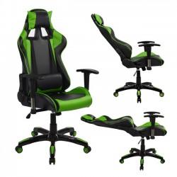Πολυθρόνα Gaming με ανάκλιση 180 μοιρών μαύρη-πράσινη c22762